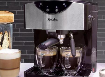 这款价格为68美元的双杯意式浓缩咖啡机应在圣诞节之前到货