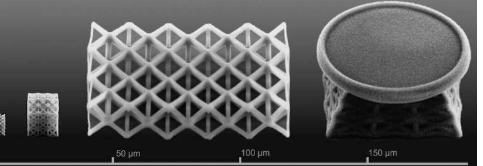 纳米晶格从3D打印机流出