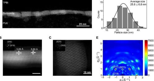 基于定向钙钛矿纳米粒子的高效发光二极管